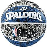 Spalding NBA Graffiti Outdoor Balón de Baloncesto, Unisex Adulto, Azul/Gris, 7