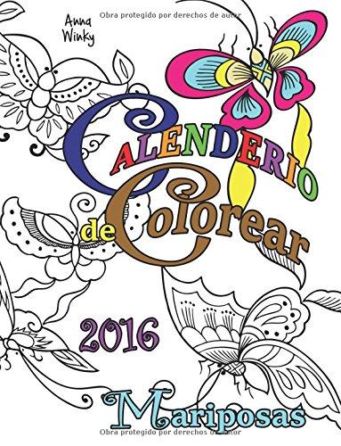 Calendario de Colorear: 2016 Mariposas