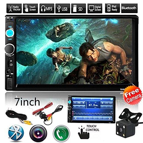 Cavogin-2din-autoradio-mit-Bluetooth-70-Touch-Screen-Auto-Audio-FM-Radio-MP5-Player-untersttzt-USBSDAux-Freisprecheinrichtung-mit-Drahtloser-Fernbedienung-Rckfahrkamera
