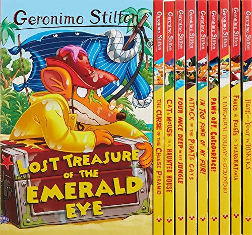 Geronimo Stilton: 10 Book Collection (Series 1) Box Set (The Curse of the Cheese Pyramid, Four Mice...