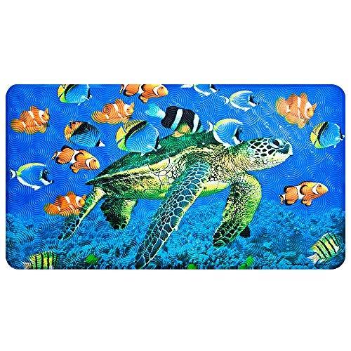 Non-Slip Bath Mat – YoLife Shower Mat Bathroom Anti Slip Mat Antibacterial Plus Reinforced Suction Cups (turtle)