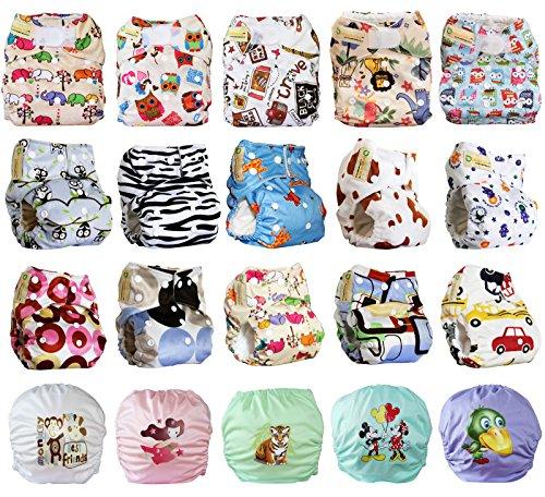 Dudeybaba, pannolini lavabili riutilizzabili, pannolini per neonato o bambino, adatto a maschi e femmine, unisex, scelta casuale