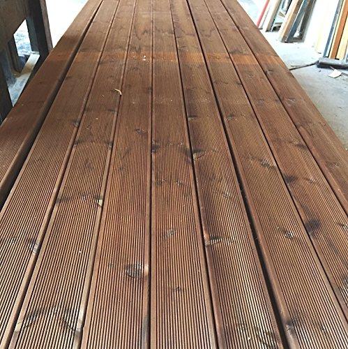[TOP] Pavimento in legno per esterno / piscina in decking in PINO+ 12x2,8x205 cm ( 2 pezzi)
