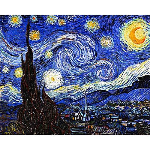 IMPRONTEEDIZIONI Notte Stellata, Vincent Van Gogh, 68x48cm, Puzzle 1000 Pezzi