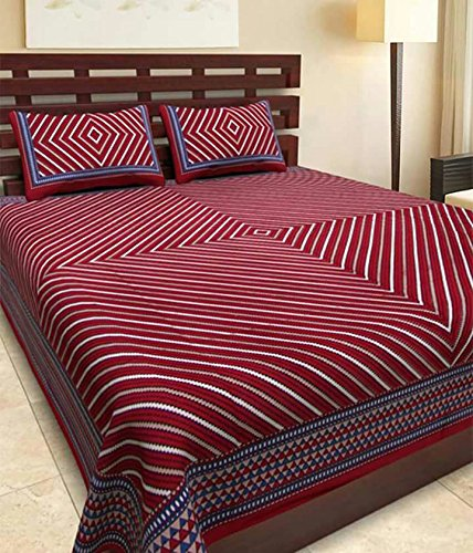 Bed Zone Rajasthani Bedsheets with 2 Pillow Covers
