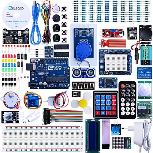 Avvertimento: La tensione di ingresso Elegoo modulo di alimentazione è 6.5V - 9v (DC). Si prega di NON superarla, altrimenti si brucerà la vostra board. Elegoo The Most Complete Starter KitElenco dei componenti:  1pezzo UNO R3 per Arduino  1p...