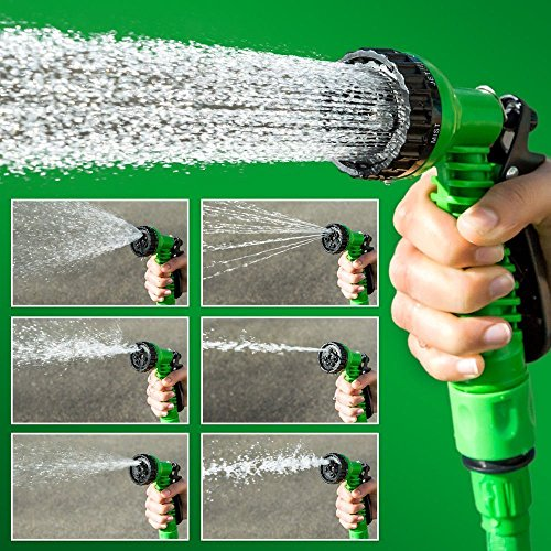 Bhajan 15 Meter Flat Hose Water Gun Spray Garden Pet Car Washing Jet Spray Gun