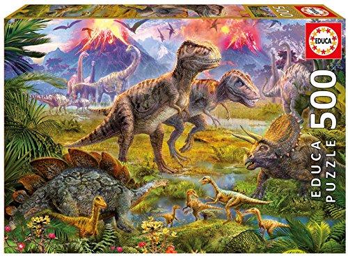 Educa Puzzle 500pz Raduno di Dinosauri, Colore Vario, 841266815969