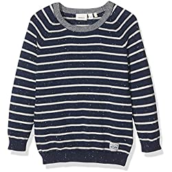 NAME IT Jungen Pullover NITFRILLE LS KNIT ONECK MZ 13138051, Gestreift, Gr. 86, Mehrfarbig (Dress Blues)