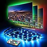 LED TV Hintergrundbeleuchtung, infinitoo LED Streifen 4*50CM Set, Usb LED Strip 5050 RGB mit Fernbedienung, LED TV Beleuchtung f¨¹r 40-60 Zoll TV, Fernseher, PC-Monitor, Desktop, Tische [Energieklasse A+++]