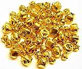 Jingle Bells Gold 60 Pieces 15mm x 24 10mm x 36