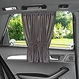 Laloona Protector solar para el coche / Cortina con protección UV, opaca, Tamaño XXL 68 x 50 cm, también para ventanas laterales grandes, color gris antracita