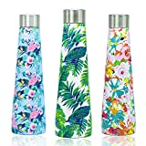 Stainless Steel Water Bottle 500ml, Yoelike 5 Layers Ultimate Insulated Vacuum Flask Double Walled Leak Proof Drinking Bottle, Perfect for Outdoor Hiking, Office, Sports - 12 Hours Hot & 24 Hours Cold