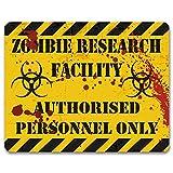 Zombie strutture di ricerca–Targa per porta o parete, in metallo