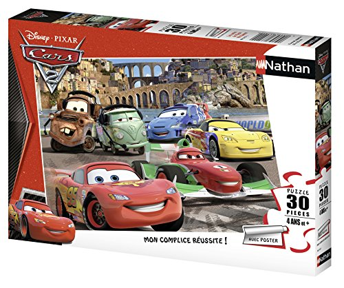 Nathan 86310 - Puzzle classico, Gli amici di Flash Mc Queen, 30 pezzi