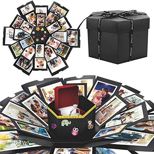 WisFox Explosion Box, Creativo Fai Da te a Sorpresa Esplosione Regalo Scatola Amore Memoria,...