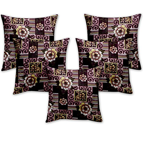 Story @ Home Purple Designer Digital Print Cushion Cover Set of 5 Pcs