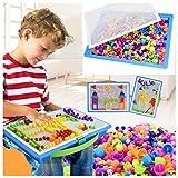 Paellaesp DIY Puzzle Juguetes 296 tabletas de setas de uñas Junta de rompecabezas