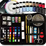 SEWING KIT, Over 120 Premium Sewing Supplies, 38 Spools of Thread - 20 Most Useful Colors & 18 Multi Colors, Extra 40 quality sewing pins & 3 Wonder Clips, Mini Travel,kids,Beginners,Emergency