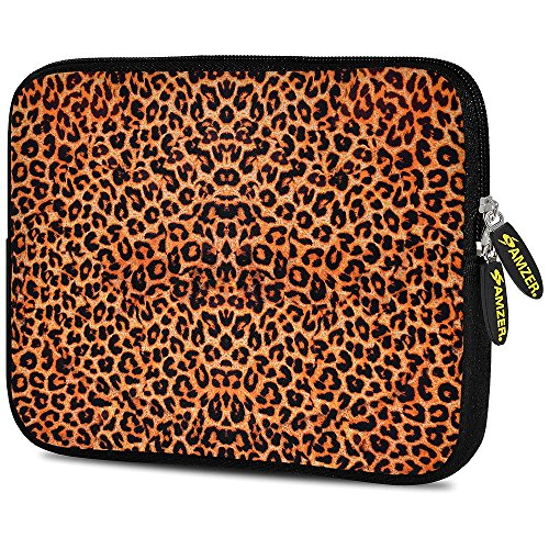 Amzer 7.0-7.75 Inches Designer Neoprene Sleeve Case for iPad/Tablet/e-Reader and Notebooks, Cheetah Skin (AMZ5255077)