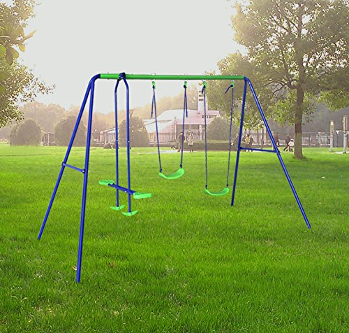 Cheap, easy to assemble, sturdy powder-coated steel frame, and with seesaw - you don't get anything better at the price of this playset.