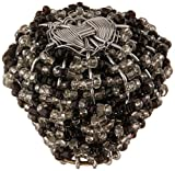 Atlas Homewares 3185 2-inch Large Beaded Knob from The Bollywood Beauties, Black and White