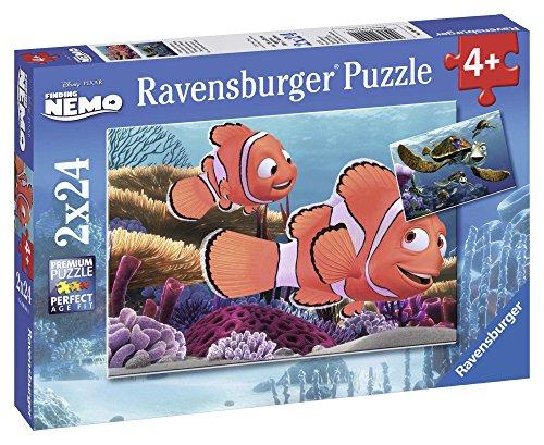 Ravensburger 09044 0 - Le Avventure di Nemo, Puzzle 2x24 Pezzi