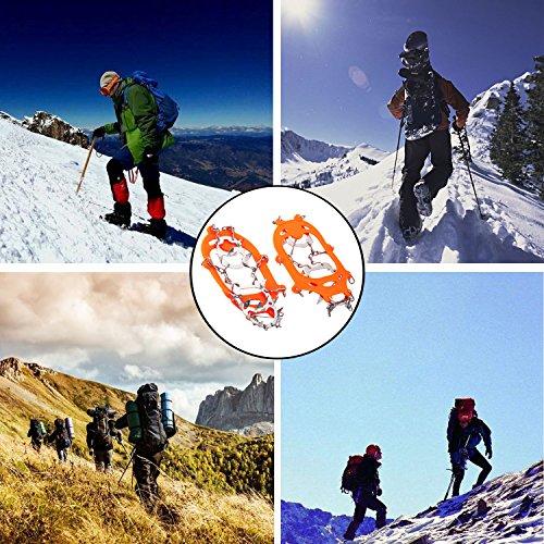 19 Dientes de Acero Inoxidable de Crampones Antideslizante Raquetas de Nieve,al Aire Libre de Esqui de Senderismo en Tipos Variedad de Terreno - by EnergeticSkyTM 5