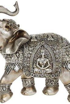 Decorative Gold And Silver Buddha Elephant Ornament