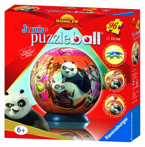 Ravensburger 11370 - Palla Puzzle Kung Fu Panda, 96 Pezzi