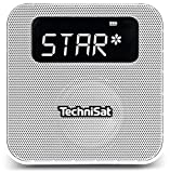 TechniSat Digitradio Flex DAB Steckdosenradio mit Akku (DAB Radio, UKW, Audio Eingang, USB Ladefunktion, Bluetooth, Favoritenspeiche) weiß