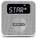 TechniSat Digitradio Flex DAB Steckdosenradio mit Akku (DAB+ Radio, UKW, Audio Eingang, USB Ladefunktion, Bluetooth, Favoritenspeiche) weiß