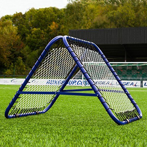 This compact rebounder net is perfect for a variety of training activities such as volleys, heading, touches, and even goal-keeping, allowing youngsters to widen their scope. Goal assembly is hassle-free and its portable design means it can be taken on the road without any issue.