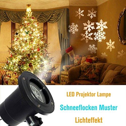 Bella fontaine effet lumi re lampe de projecteur avec motif flocons de neige led projection for Spot led pour noel