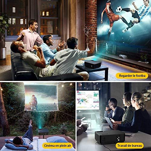 YABER Vidéoprojecteur 4200 Lumens Soutien 1080P Full HD Home Cinéma Projecteur LED avec Deux Haut-parleurs Stéréo (de Qualité HiFi - Haute-f... 10