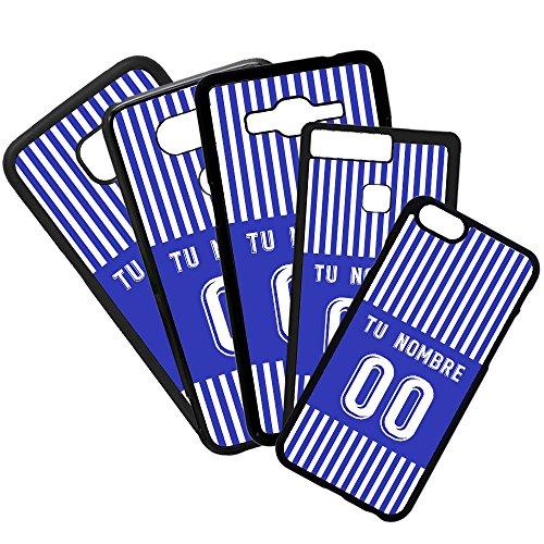 Funda de Movil Carcasa de Moviles Fundas Carcasas de TPU Compatible con el movil Huawei P8 Lite 2017 Modelo Camiseta de Fútbol Real Sociedad con tu Nombre y Numero Personalizado
