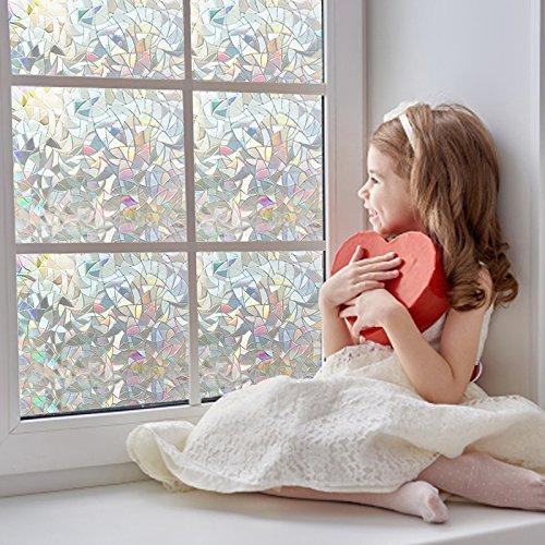zindoo no glue non adh sif statique d coratif 3d fen tre film vitre de confidentialit fen tre. Black Bedroom Furniture Sets. Home Design Ideas