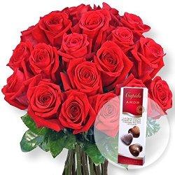 floristikvergleich.de 20 rote Rosen und Pralinen-Herzen