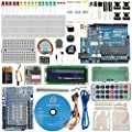 [Sintron] Arduino Uno R3 Board Starter Kit with PDF files & Tutorial CD In italiano + Transparent Acrylic Case LCD Servo Motor Sensor Module etc, for Arduino Starter Learner