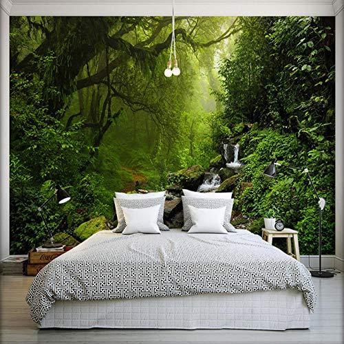 Murale Carta Da Parati Murali,Stereo Foresta Vergine Natura Paesaggio Personalizzare 4D Wallpaper Parete Decorazione Arte Hd Stampare Poster Per Soggiorno Divano Letto Grande Decorazione Murale Di Set