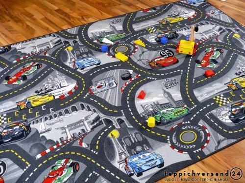 Snapstyle Disney Cars - Tappeto Gioco Bambini - Grigio - 17 Dimensioni