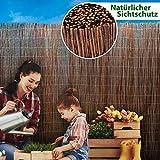 casa pura Weidenzaun Sichtschutz - Fachhandel-Qualität - kürzbar, rostfrei - Weidenzaunmatte Weidenmatte - Weiden Sichtschutzmatte - Natur Sichtschutz aus Holz - viele Größen - 150 x 500 cm