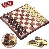 CRMICL Juego de ajedrez magnético de Viaje , Juego de...