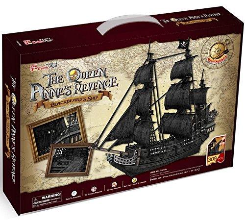 3d Puzzle Queen Anne's Revenge Large Cubicfun T4018h 308 Pieces Decorative Exiting Fun Educational...