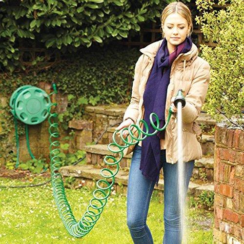 15,2m 15m Garden ricci self-coil Garden acqua tubo pistola a spruzzo regolabile