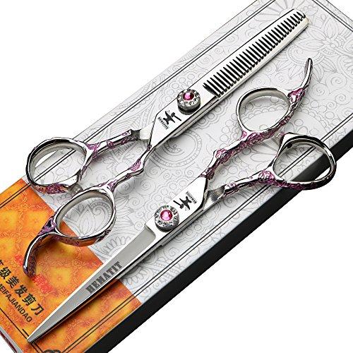 HEMATITE Set forbici professionali per parrucchieri da 6 pollici, forbici da taglio e da sfoltire per parrucchieri, forbici fai-da-te per capelli