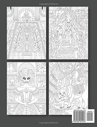 adult coloring books halloween designs