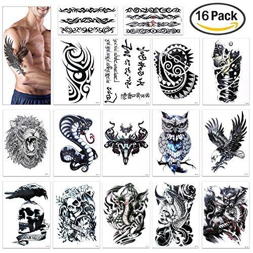 tatouage temporaire pour homme femmes enfant konsait manchette tatouage tattoo noir body tattoo. Black Bedroom Furniture Sets. Home Design Ideas