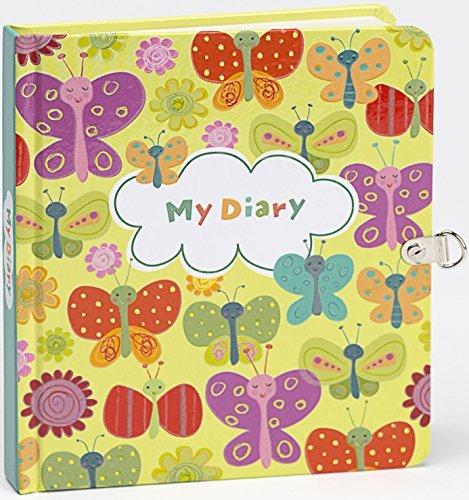 My Diario Mariposas brilla en la oscuridad Traba y Llave diario