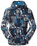 TUONROAD Giacca da Sci, Giacche da Neve Antivento Impermeabili da Uomo con Cappuccio Rimovibile Outdoor Snowboard Sportswear Imbottitura in Tessuto Cavo...